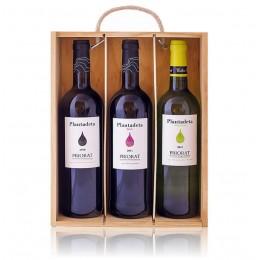 Caixa fusta Plantadeta 3 ampolles